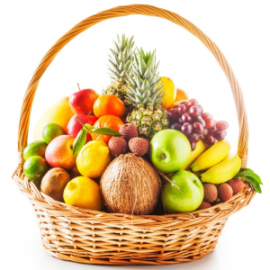 Большая корзина с фруктами R342